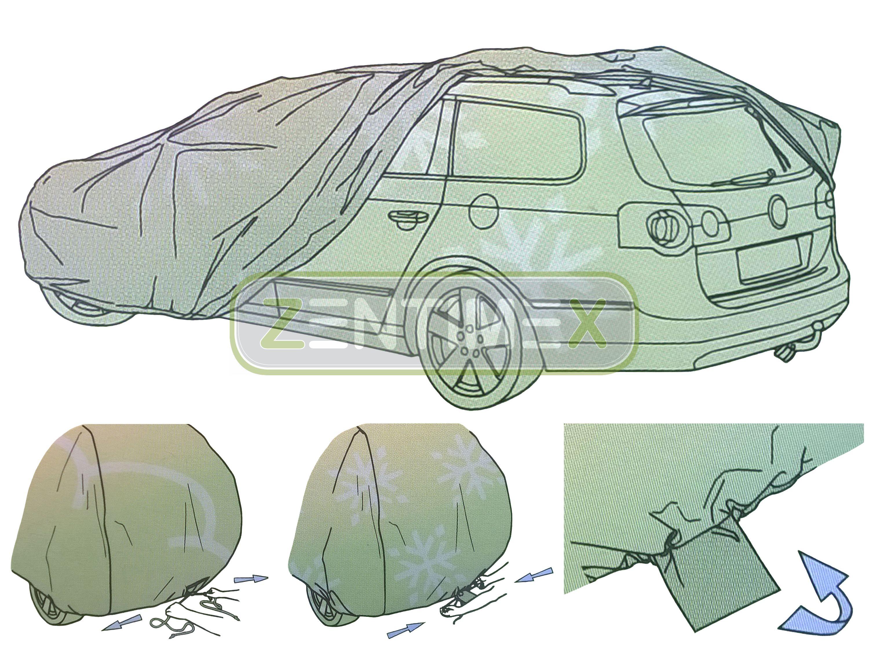 4-lagige Membran Vollgarage für Audi A4 B8 Stufenheck Limousine 4-türer 11.07