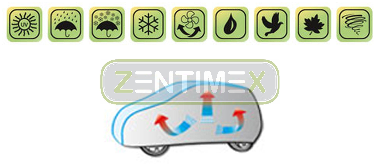 Atmungsaktive Halbgarage für  Jeep Grand Cherokee 4 WK Geländewagen SUV 5-türer