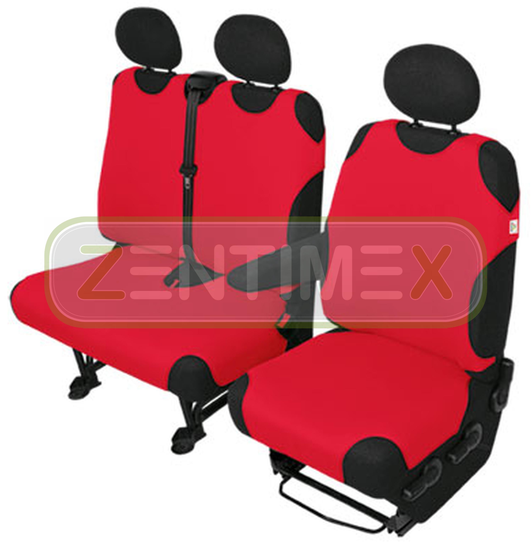 Sitzbezüge Schonbezüge SET KA VW T4 Transporter Stoff rot