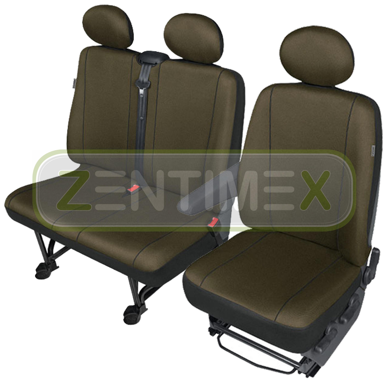 Sitzbezüge Schonbezüge SET BA für VW T4 Transporter Stoff Bernstein