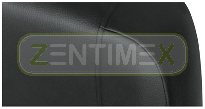 Fundas para asientos ya referencias set QB VW t5 Caravelle imitación cuero negro