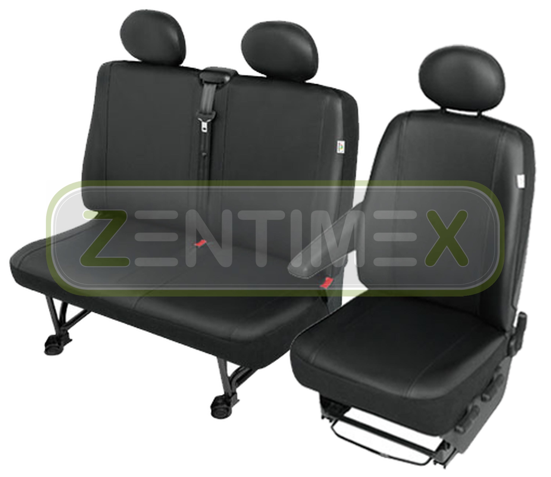Sitzbezüge Schonbezüge SET QC Citroen Jumpy Kunstleder schwarz