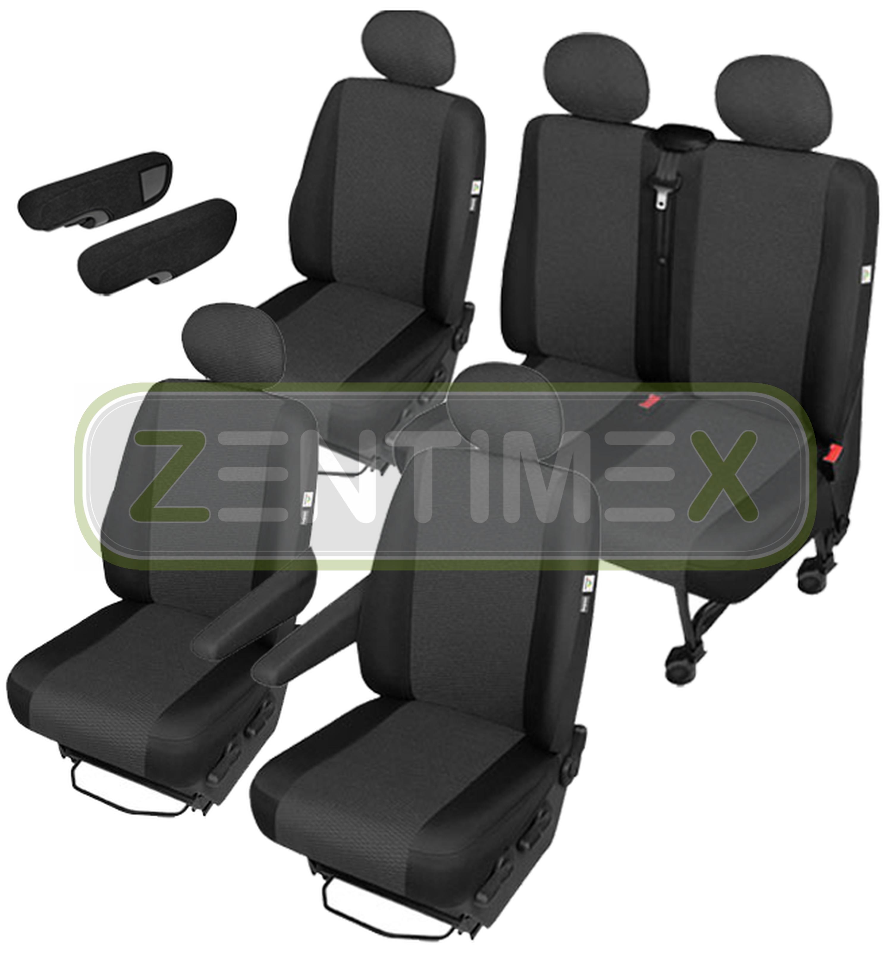 Sitzbezüge Schonbezüge SET ADD VW T4 Transporter Stoff schwarz