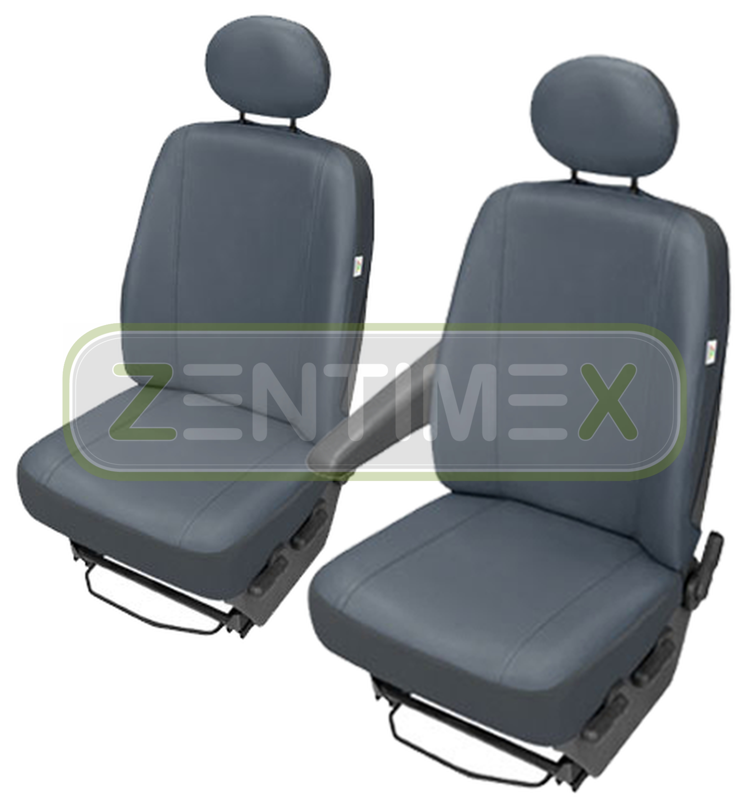 Sitzbezüge Schonbezüge SET GE VW T5 Transporter Kunstleder grau