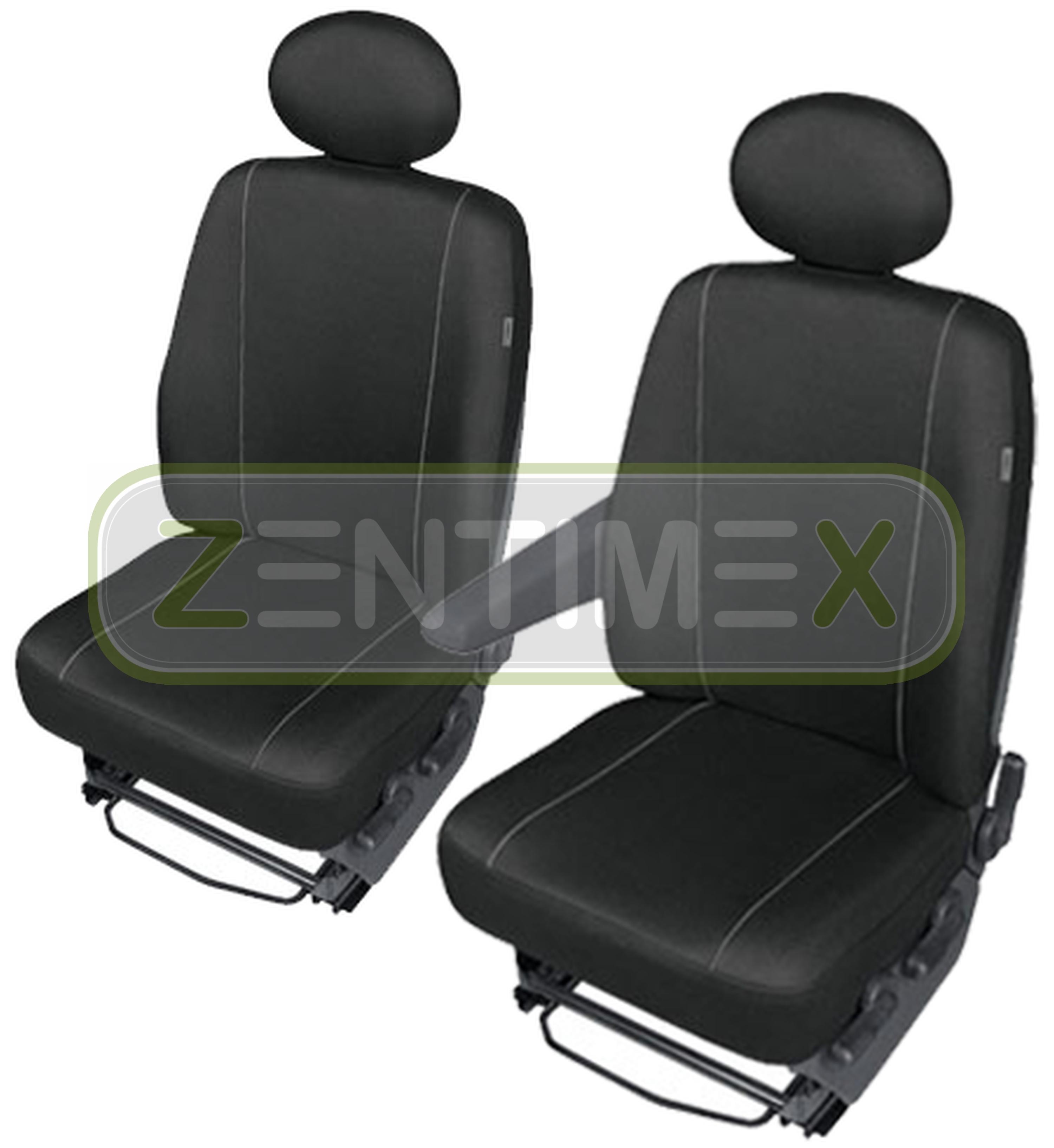 Stoff schwarz Sitzbezüge Schonbezüge SET SE Renault Master 3 2010