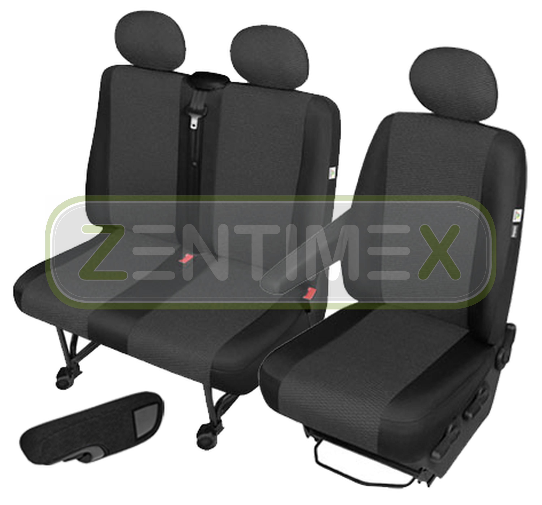 Sitzbezüge Schonbezüge SET AEE VW LT Stoff schwarz