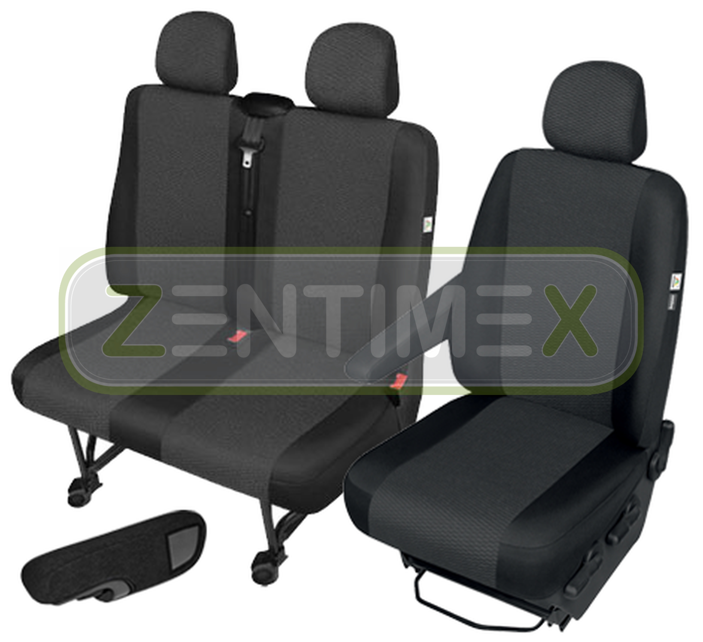 Sitzbezüge Schonbezüge SET AEE Nissan Primastar Stoff schwarz