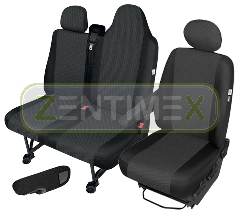 Fundas para asientos ya referencias set yee Opel Movano B 2010-tela negra
