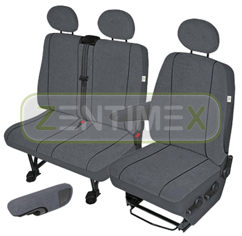 Fundas para asientos ya referencias set EEE Peugeot Boxer sustancia gris oscuro
