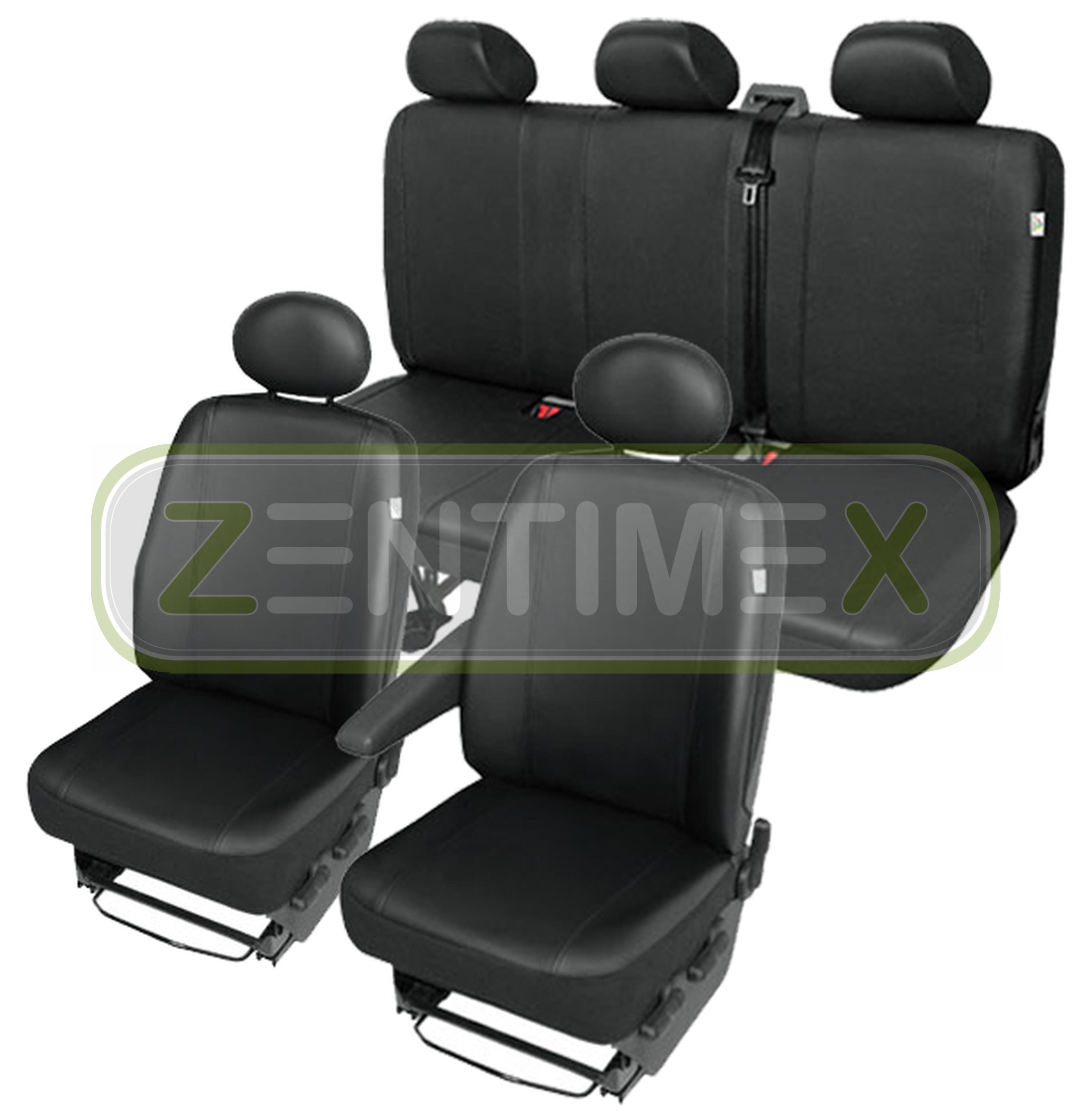 Sitzbezüge Schonbezüge SET QG Toyota Hiace Kunstleder schwarz