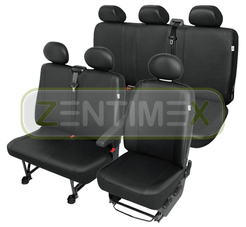 Sitzbezüge Schonbezüge SET QH Hyundai H-1 H1 Kunstleder schwarz