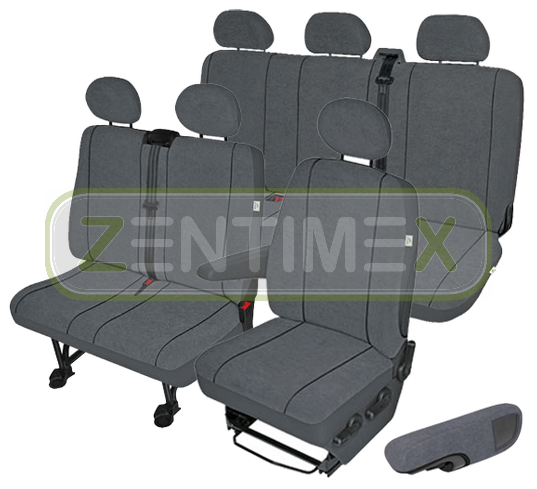 Sitzbezüge Schonbezüge SET EJJ Ford Transit Stoff dunkel grau