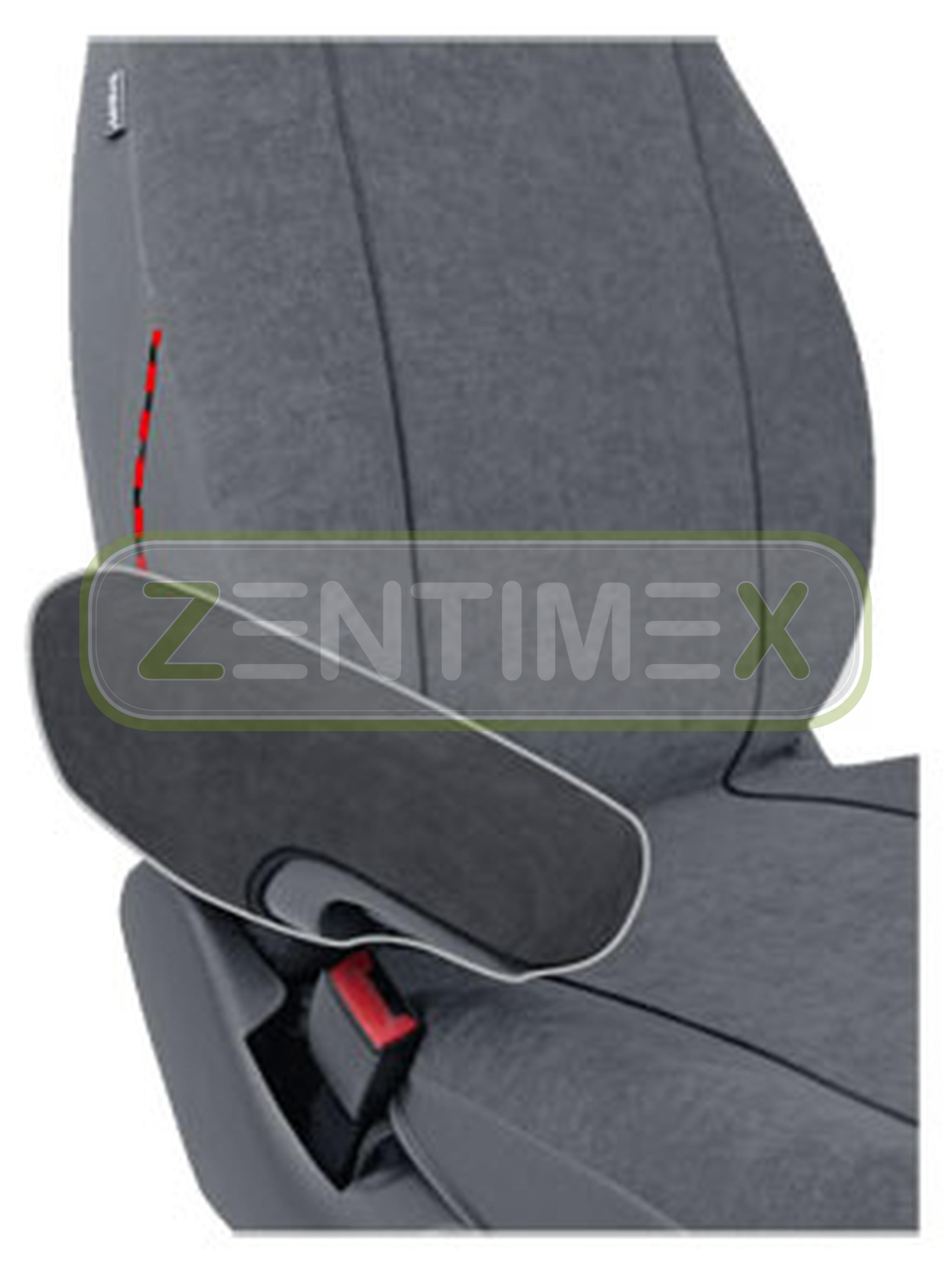 Sitzbezüge Schonbezüge SET EJJ für Fiat Ducato Stoff dunkel grau