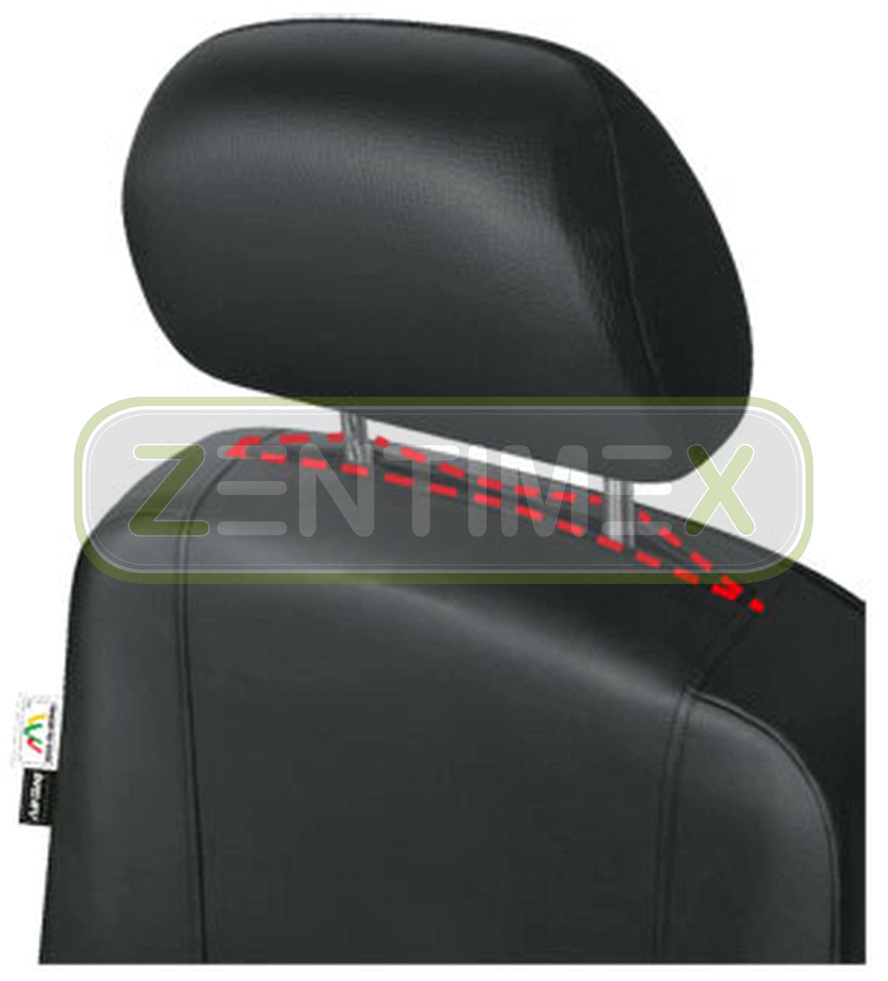 Fundas para asientos ya referencias set QM Ford Transit imitación cuero negro