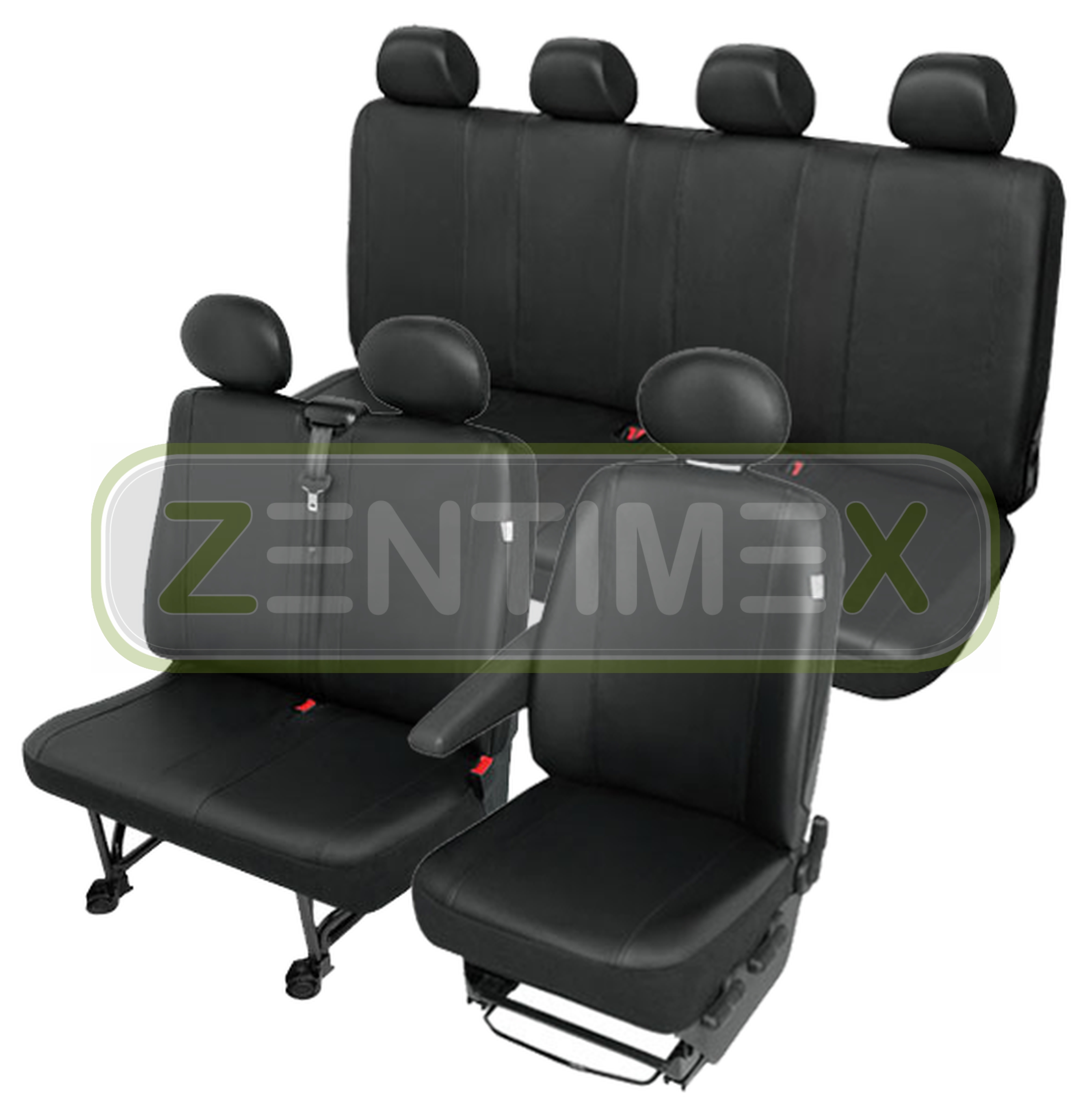 Sitzbezüge Schonbezüge SET QN VW Crafter Kunstleder schwarz