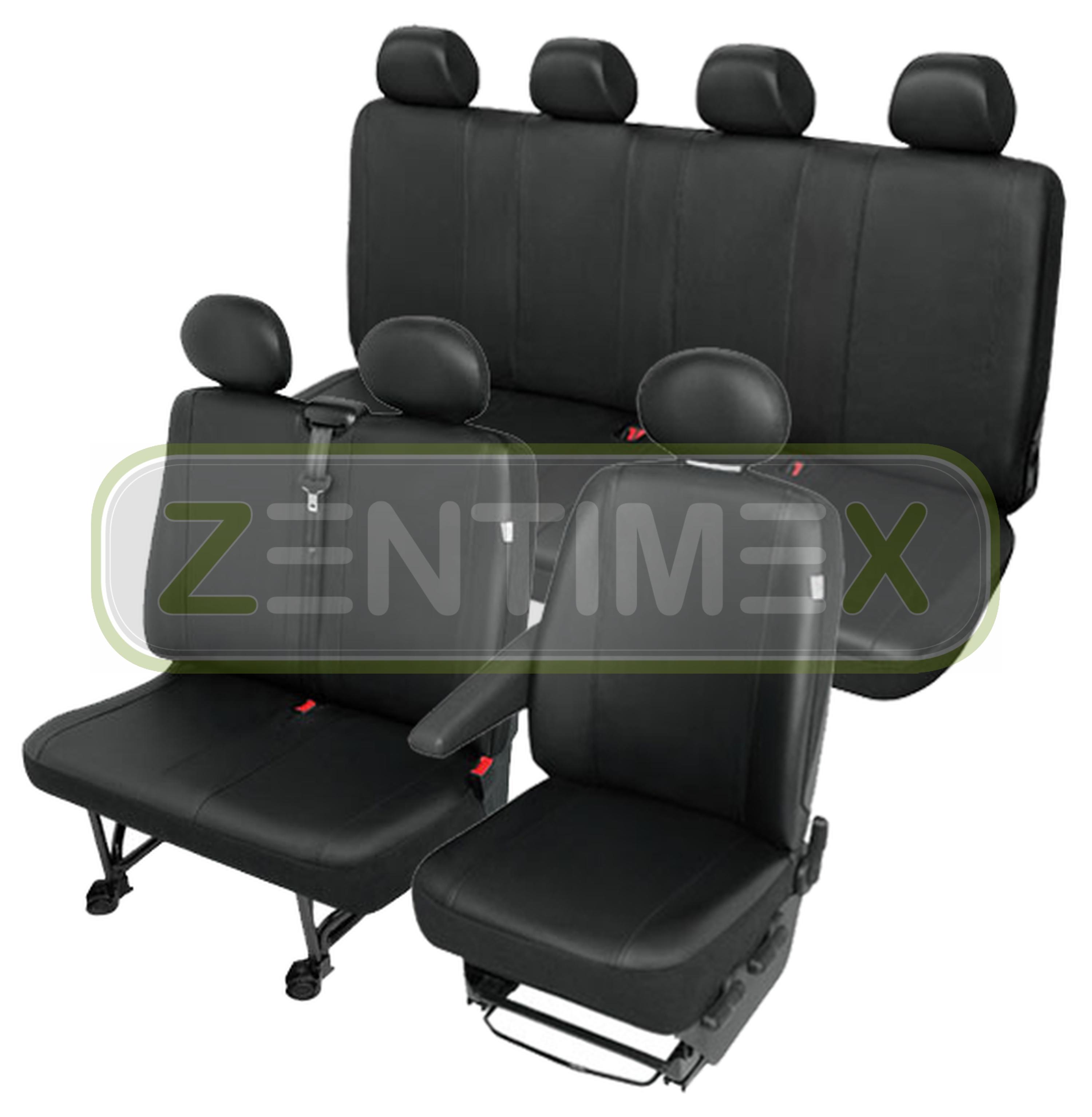 Sitzbezüge Schonbezüge SET QN VW LT Kunstleder schwarz