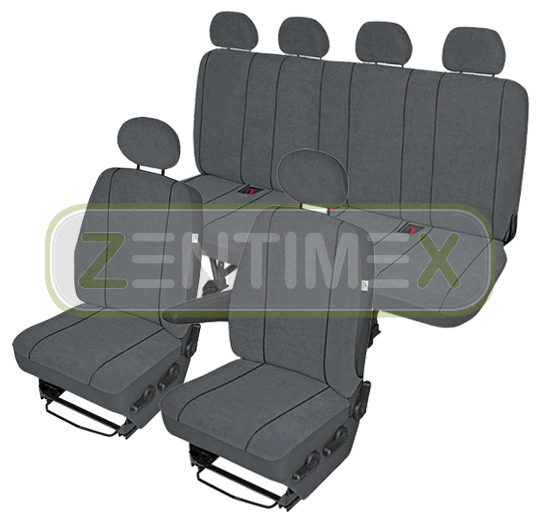 Sitzbezüge Schonbezüge SET ER Iveco Daily Stoff dunkel grau
