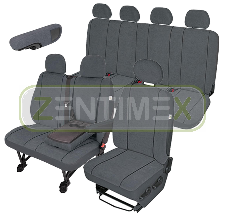 Sitzbezüge Schonbezüge SET ERR Citroen Jumper Stoff dunkel grau