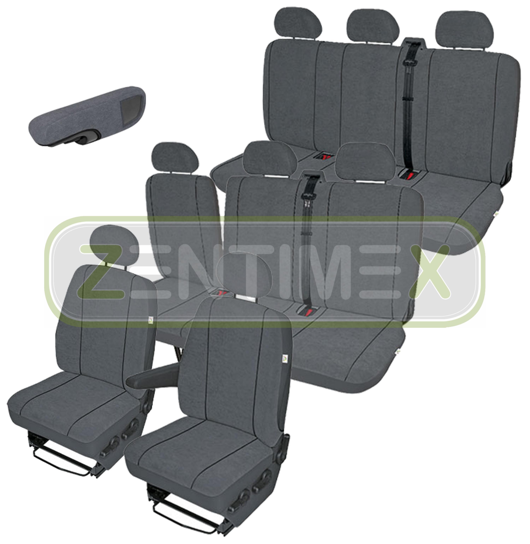 Stoff dunkel grau Sitzbezüge Schonbezüge SET ETT Nissan NV400 2010