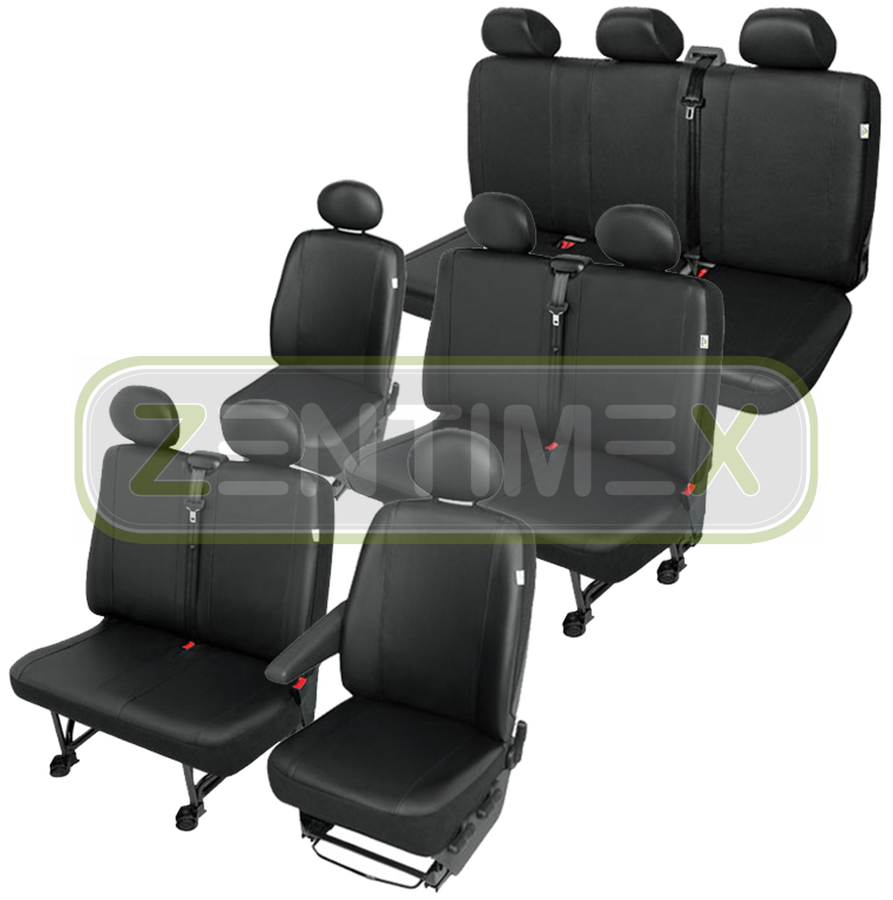 Sitzbezüge Schonbezüge SET QV Peugeot Expert Kunstleder schwarz