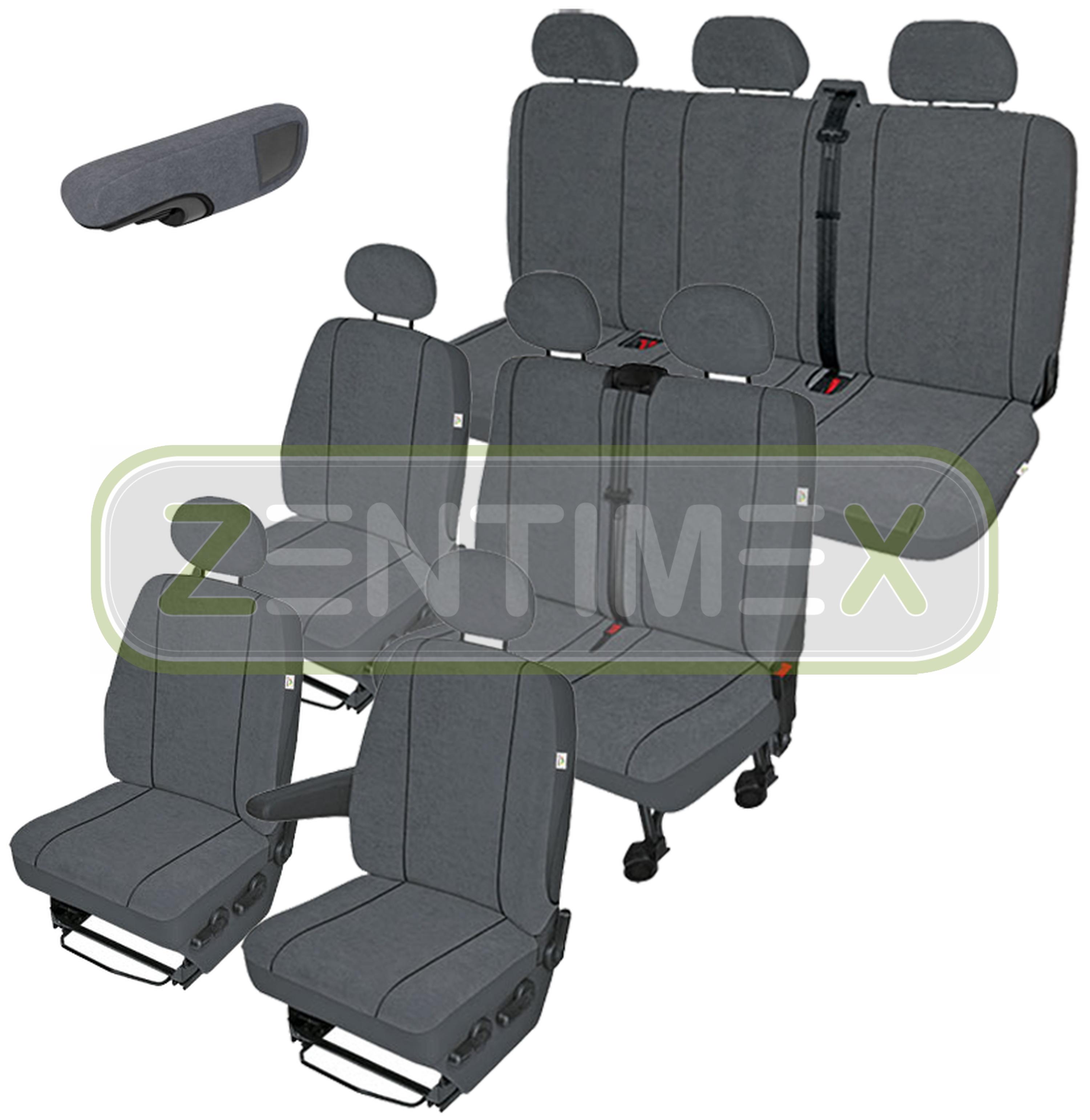Sitzbezüge Schonbezüge SET EWW Ford Transit Stoff dunkel grau