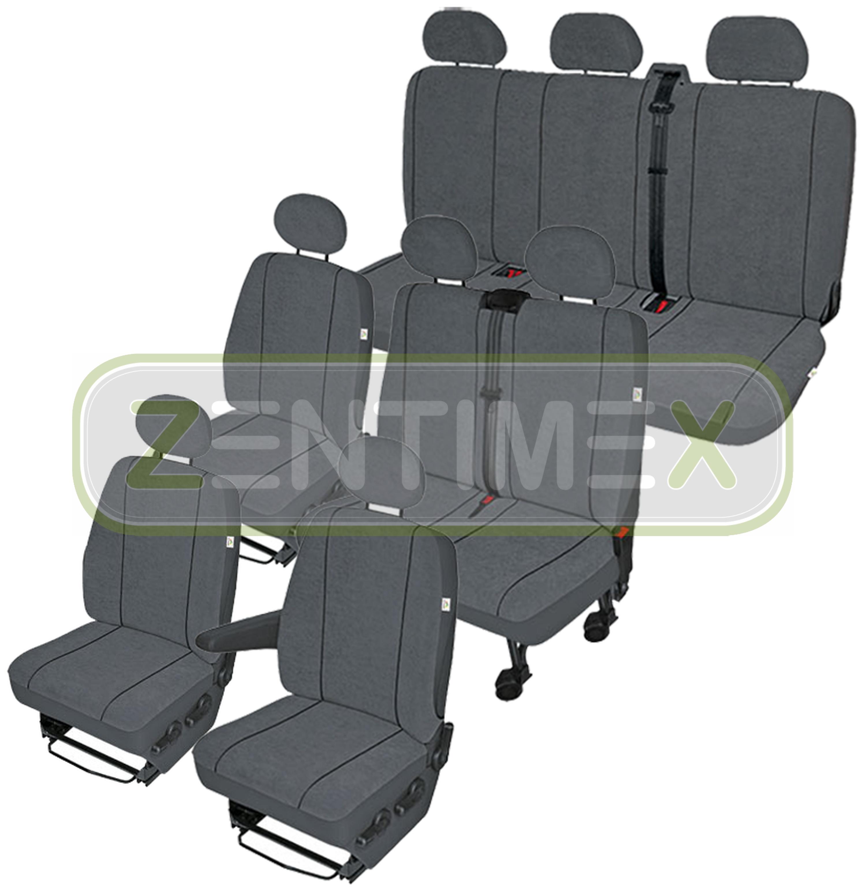 Sitzbezüge Schonbezüge SET EX VW T4 Caravelle Stoff dunkel grau