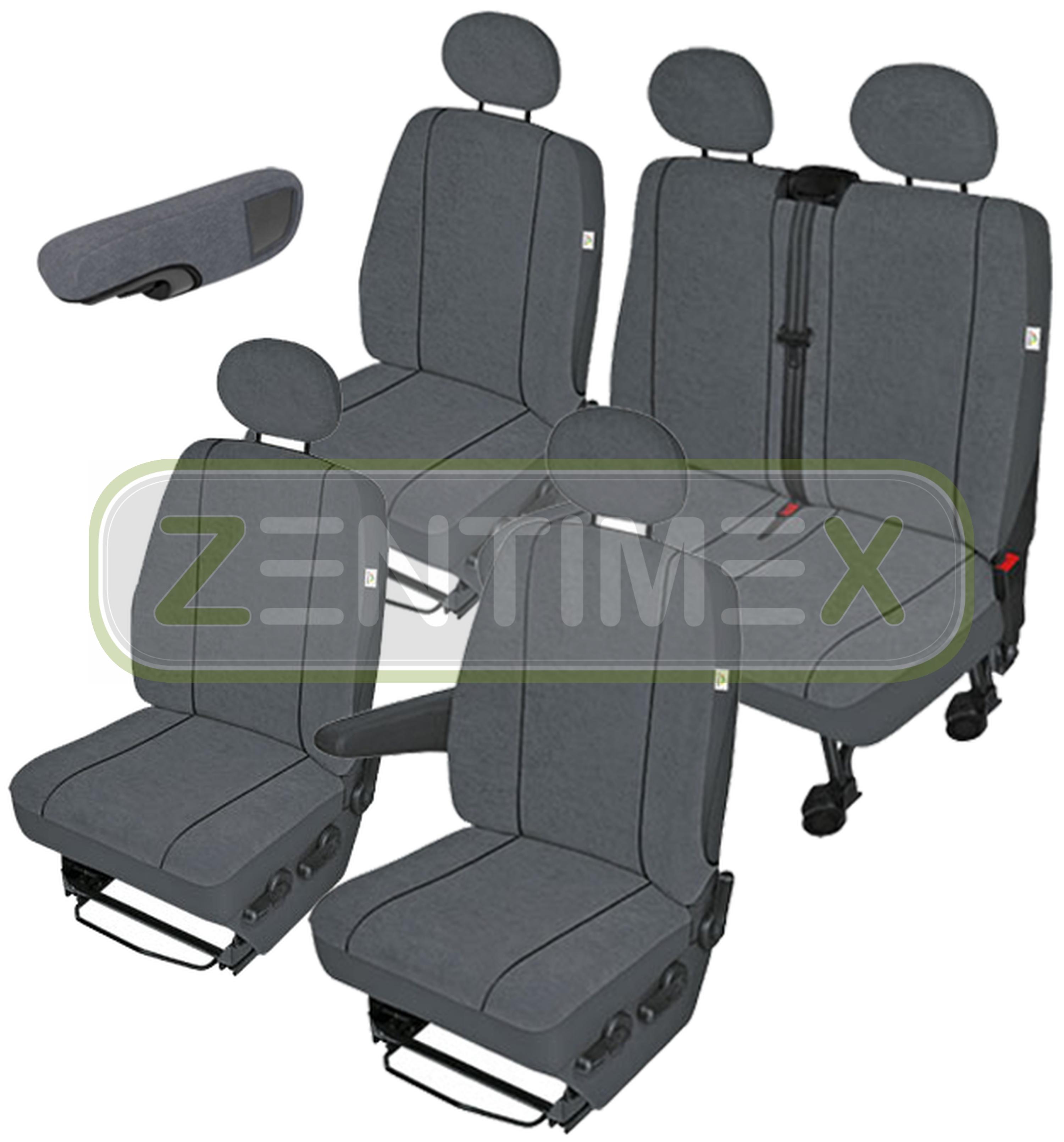 Sitzbezüge Schonbezüge SET EXX Peugeot Expert Stoff dunkel grau