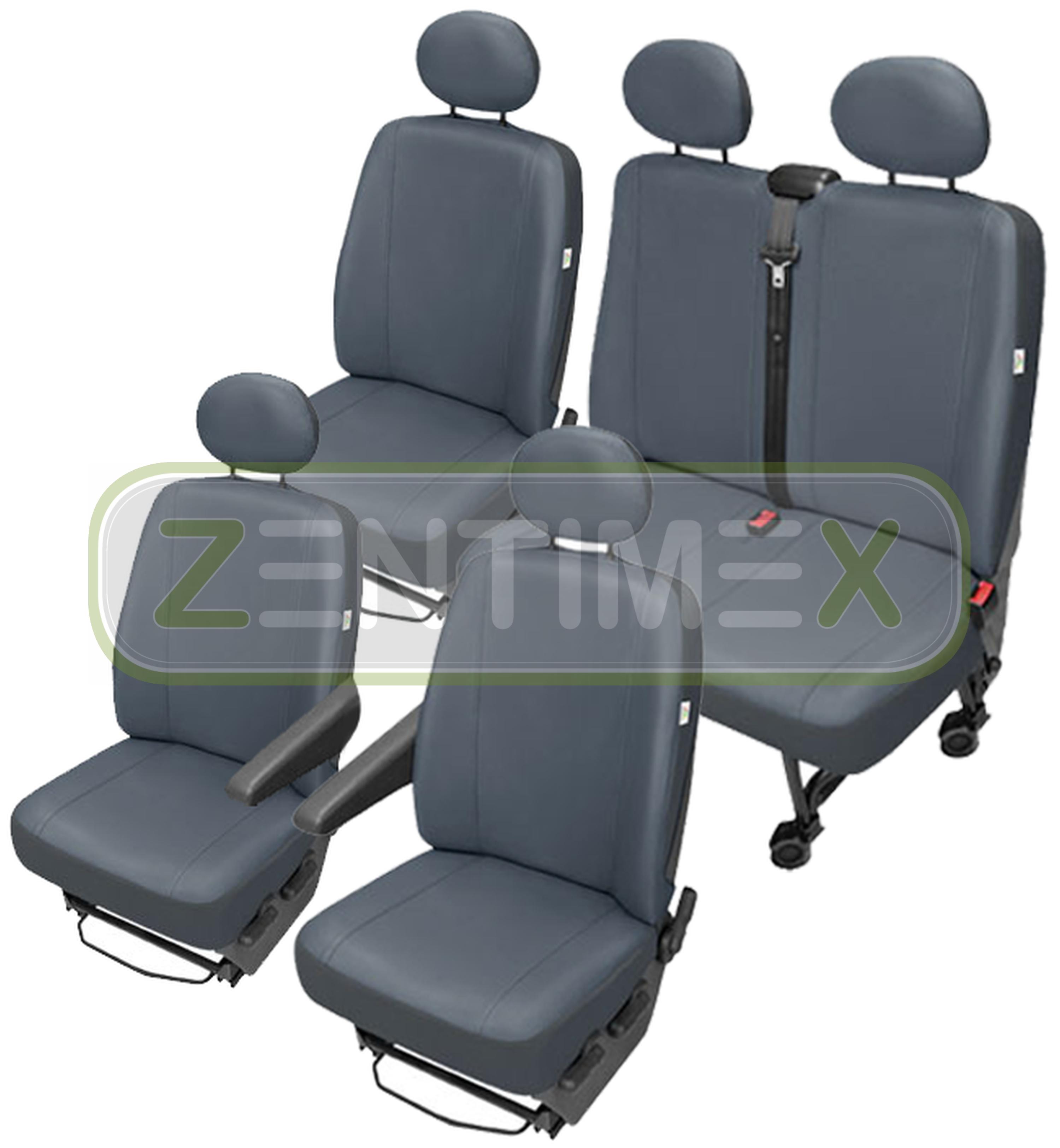 Sitzbezüge Schonbezüge SET GY VW T5 Caravelle Kunstleder grau