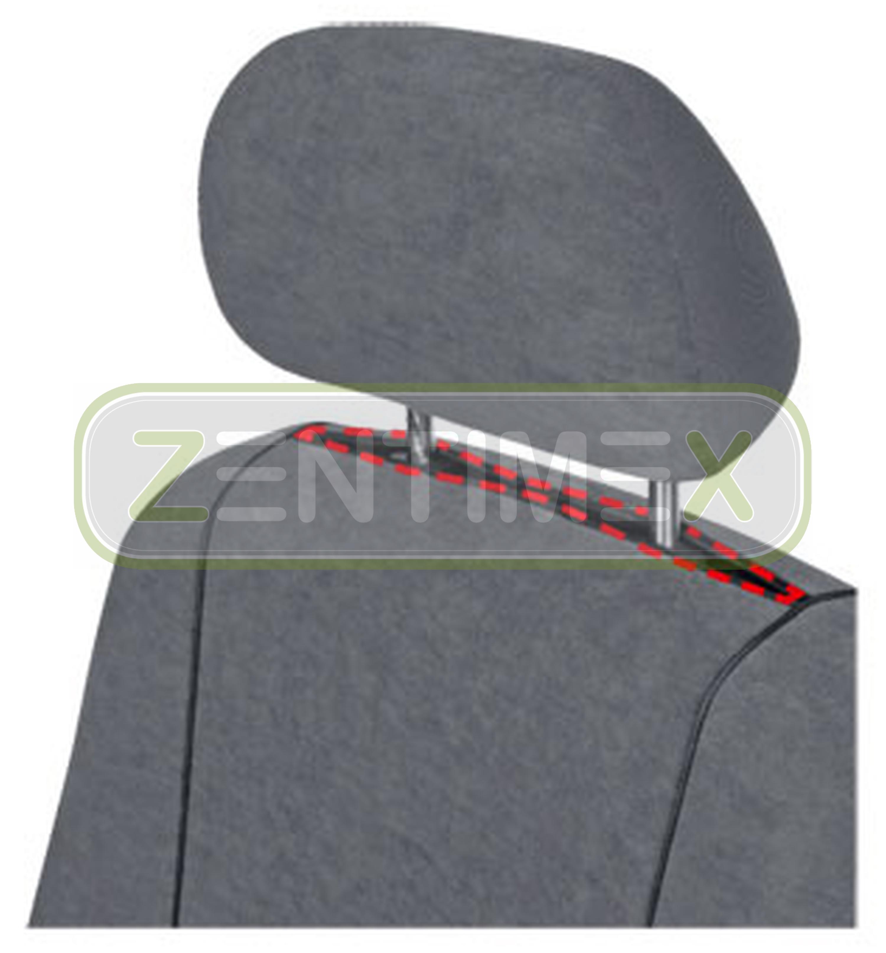 Sitzbezüge Schonbezüge SET EZ VW T5 Transporter Stoff dunkel grau