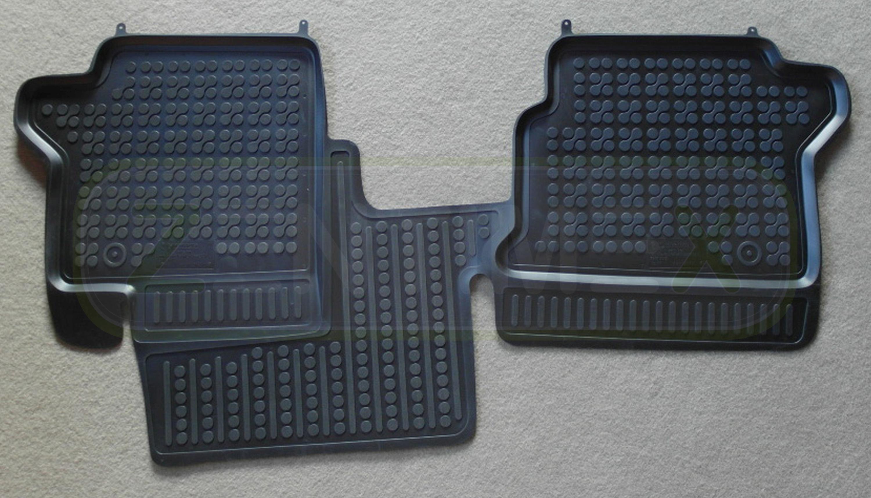 ab 13 Schwarze Gummifußmatte für FORD Tourneo Connect II Transit Connect II Bj
