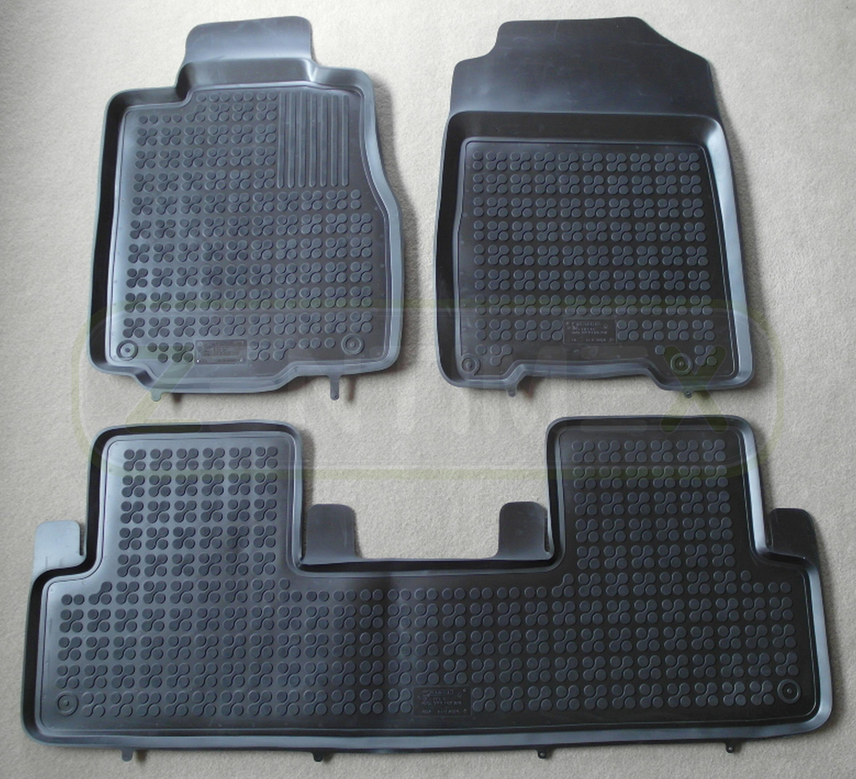 Gummifußmatten für Honda CR-V CRV 4 Steilheck Geländewagen SUV 5-türer 2012 sch