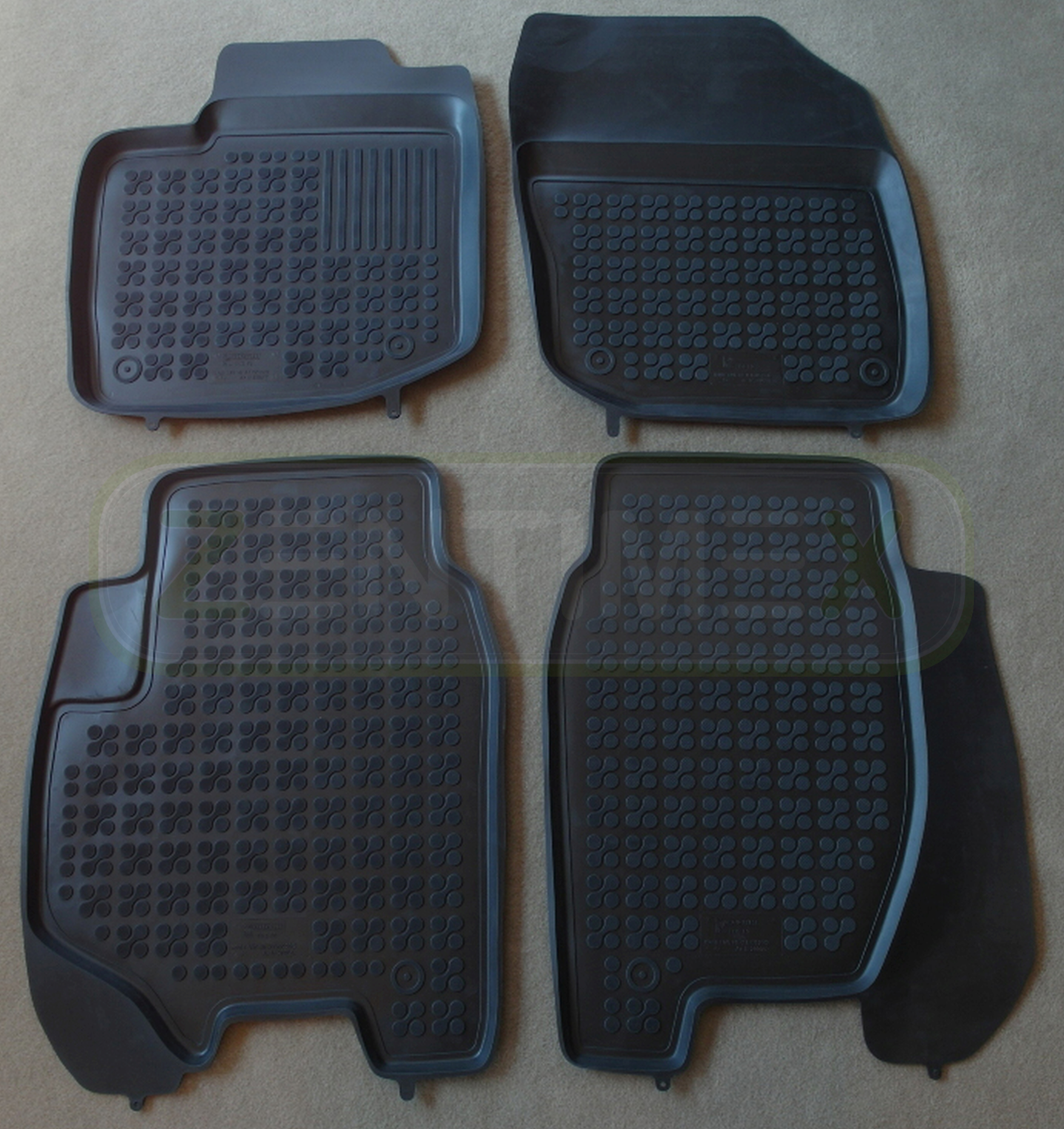 schwarz Scha Gummifußmatten für Honda Civic 9 Schrägheck Hatchback 5-türer 2012