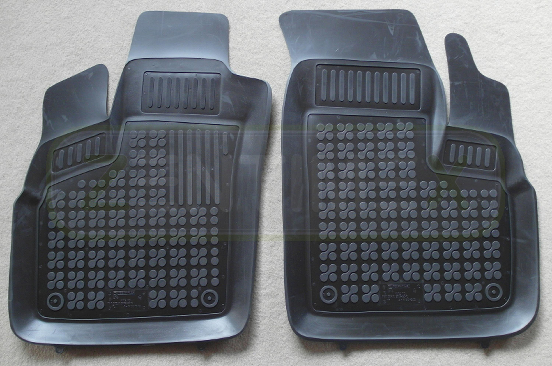 Gummifußmatten für Fiat Doblo 1 Typ 223 Facelift Hochdachkombi 2005-2010 schwarz