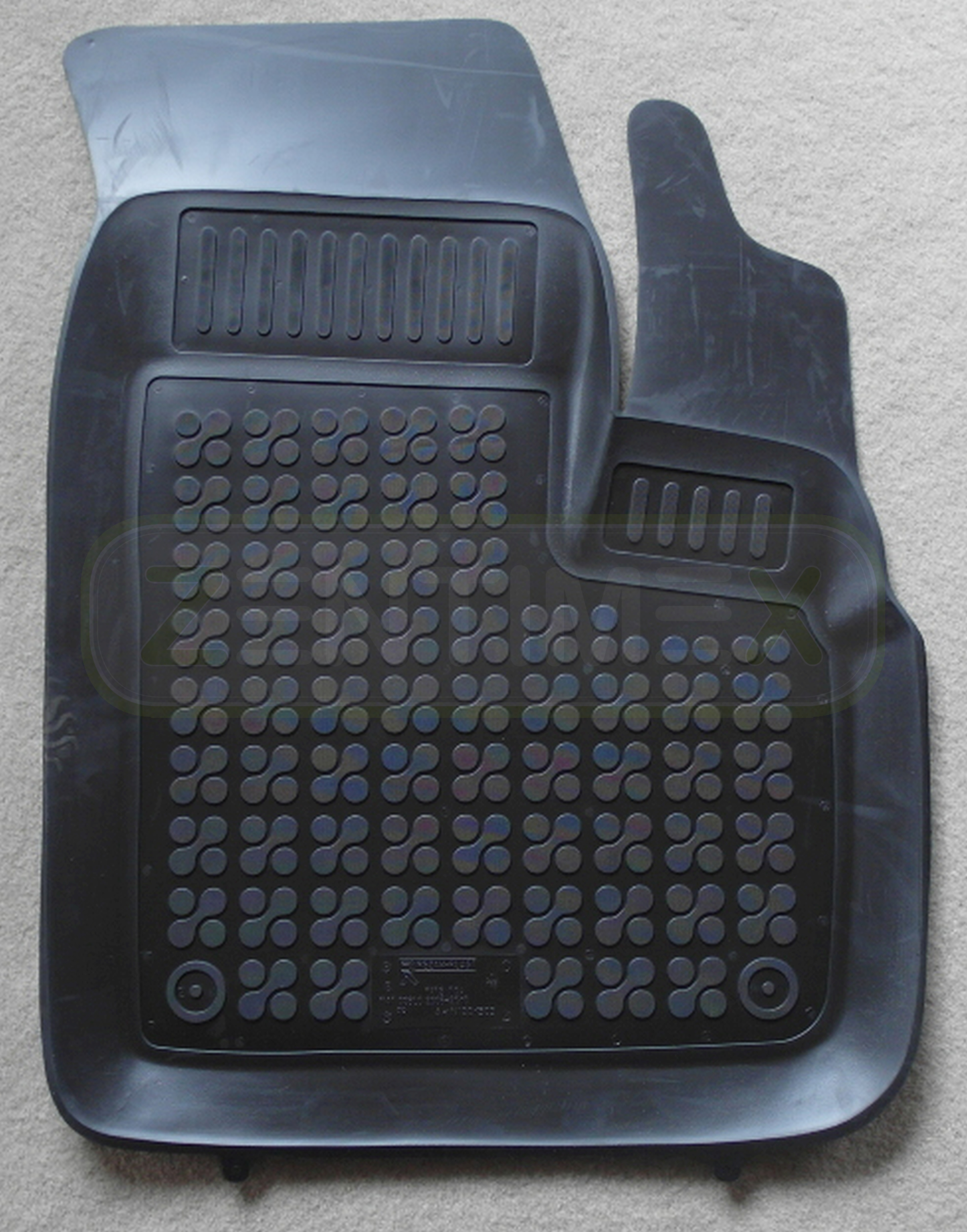 Auto Fußmatten schwarz passend für Fiat Doblo Kombi 4tlg.m.Halter Rand rot