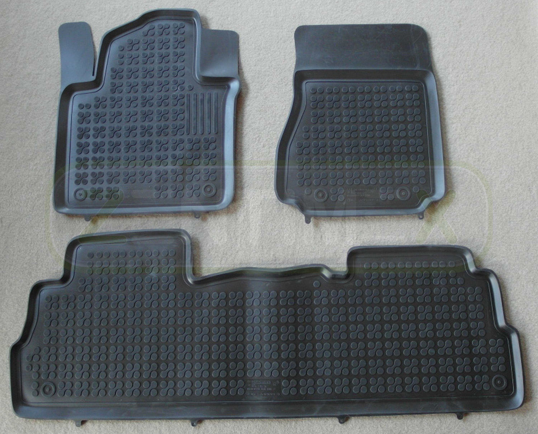 Gummifußmatten für Nissan NV200 Hochdachkombi 2009 schwarz Schalenmatten