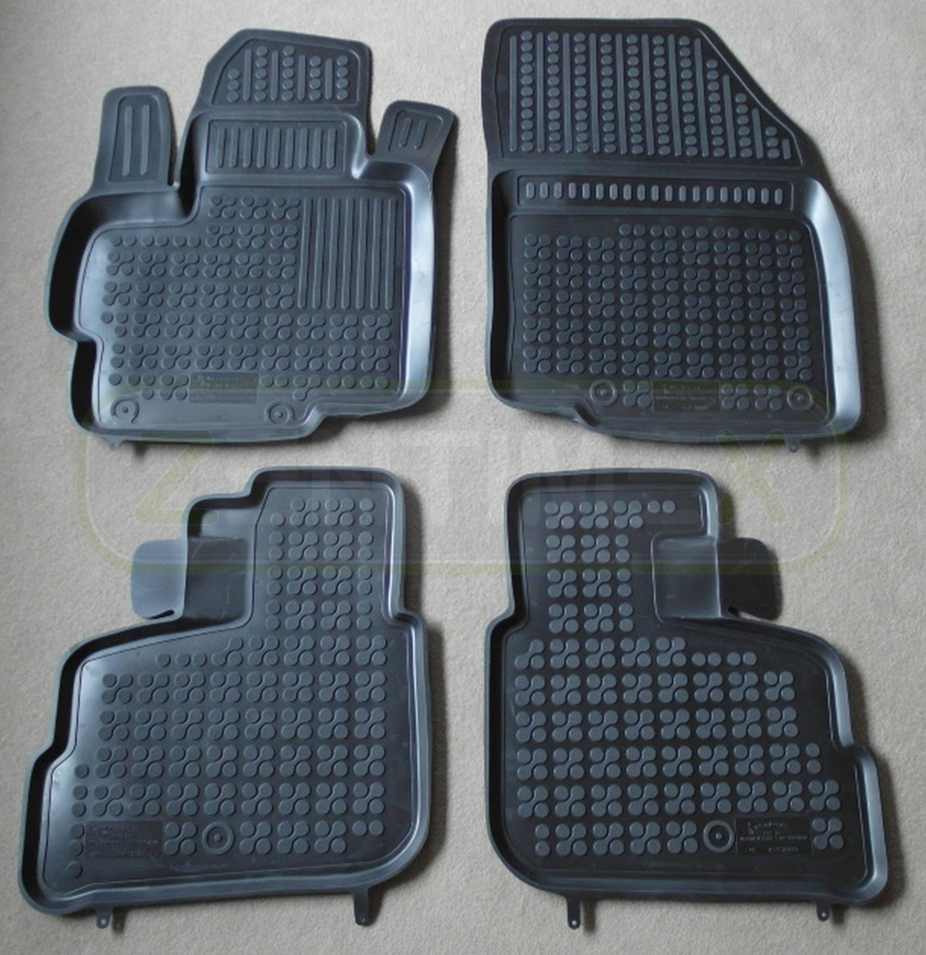 Tappetini in gomma per Mitsubishi Space Star posteriore acciaio per Hatchback 5-PORTE 2012-Nero