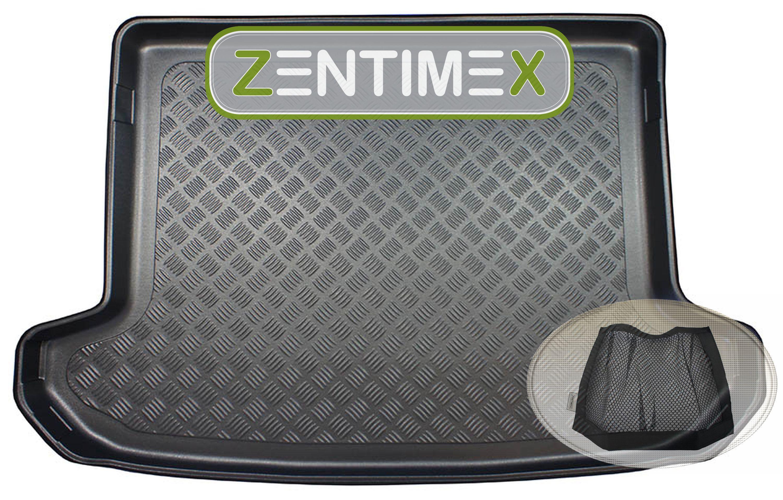 Z332814 Gerippte Kofferraumwanne + Klett-Netz für Kia Sportage Vision 4 QL Steil