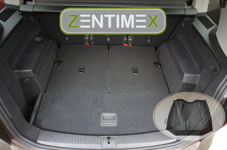 Z332727 Gerippte Kofferraumwanne Klett-Netz für Volkswagen Touran 2 5T1 Van Ko