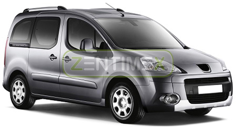 Geriffelte Kofferraumwanne für Peugeot Partner Tepee 2 Facelift Kleinbus 2015-5