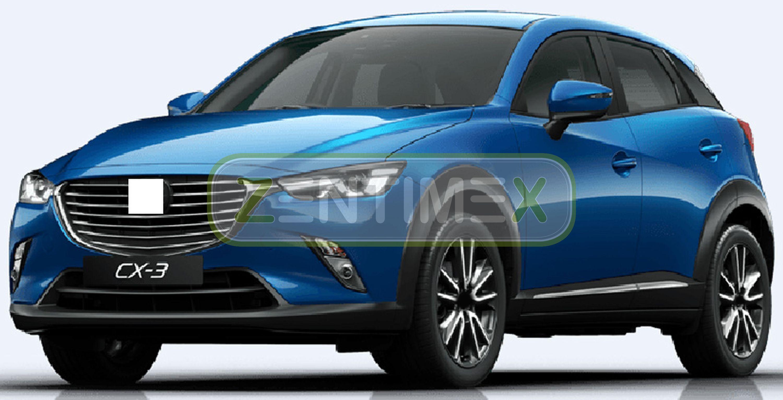 Geriffelte Kofferraumwanne für Mazda CX-3 CX 3 CX3 Steilheck Geländewagen SUV 50