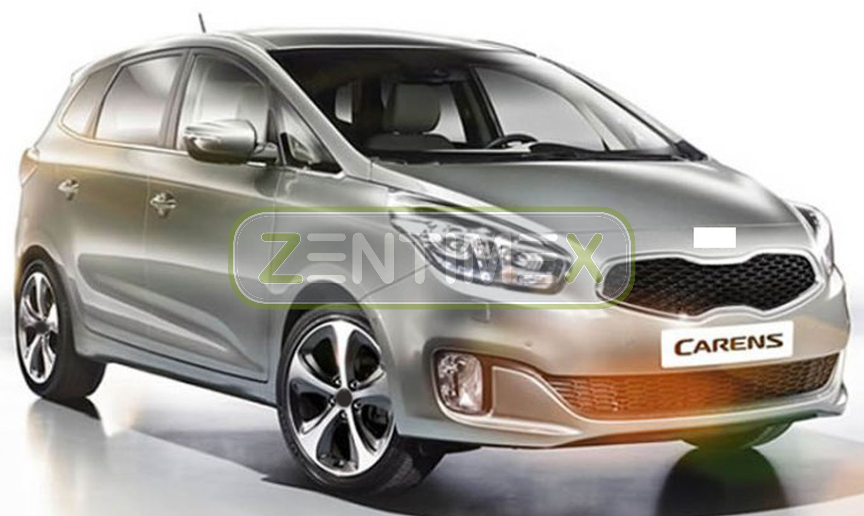 Geriffelte Kofferraumwanne für Kia Carens Dream-Team Edition 4 RP Van Kombi 5-tü