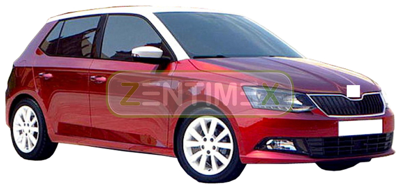 Zigrinati TAPPETINO VASCA PER SKODA FABIA Joy 3 NJ posteriore acciaio per Hatchback 5-porte
