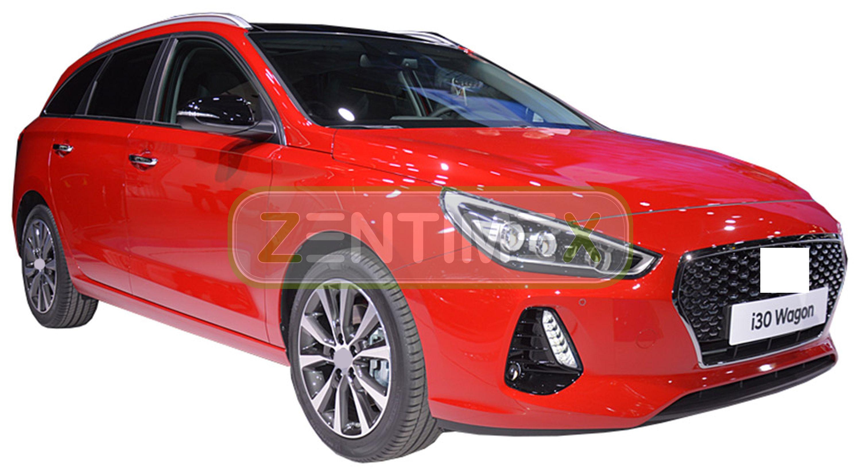 Geriffelte Kofferraumwanne für Hyundai i30 Tourer Passion 3 PD Kombi 5-türer 201