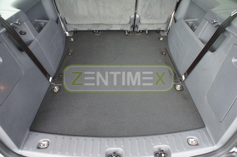 Geriffelte Kofferraumwanne für VW Volkswagen Caddy Maxi 2K Vor-Facelift Hochda11