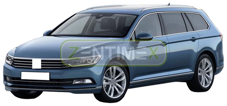 Geriffelte Kofferraumwanne für VW Volkswagen Passat Highline B8 Variant Kombi 5