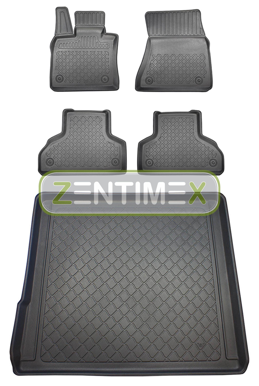 Z330239 SET Kofferraumwanne Gummifußmatten für BMW X5 E70 Facelift Steilheck Gel