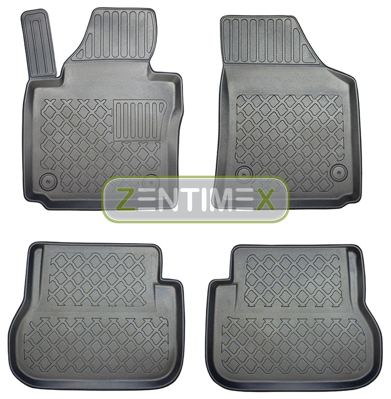 Z330868 Set Tappetino Vasca In Gomma Tappetini per VW Volkswagen Caddy Maxi Trendlin