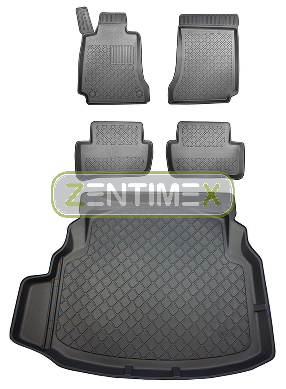 Z330430 SET Kofferraumwanne Gummifußmatten für Mercedes C-Klasse W204 Limousine