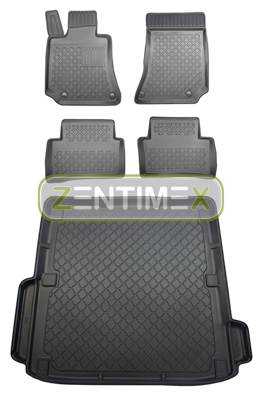 Z330412 SET Kofferraumwanne Gummifußmatten für Mercedes E-Klasse Elegance S212 W