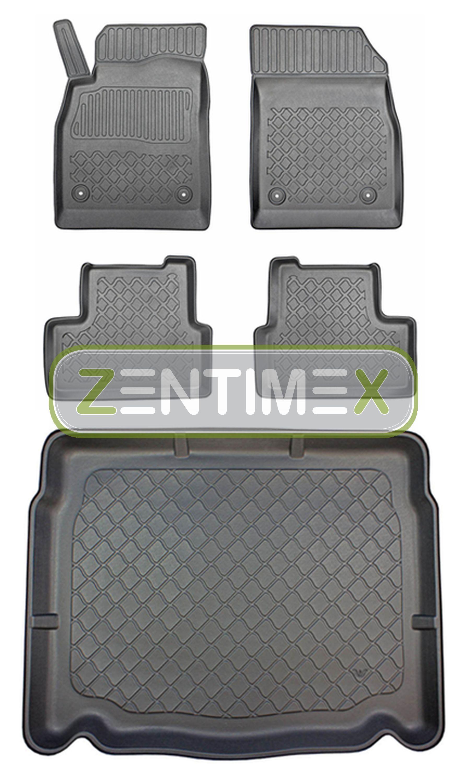 Z330600 SET Kofferraumwanne Gummifußmatten für Opel Astra J Schrägheck Hatchback
